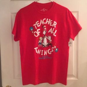 Cat in the Hat Teacher of All Things T-shirt
